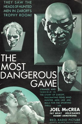 Framed Most Dangerous Game Movie Print