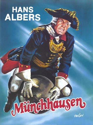 Framed Adventures of Baron Munchausen - german Print