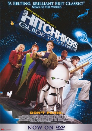 Framed Hitchhiker's Guide to the Galaxy (characters posed) Print