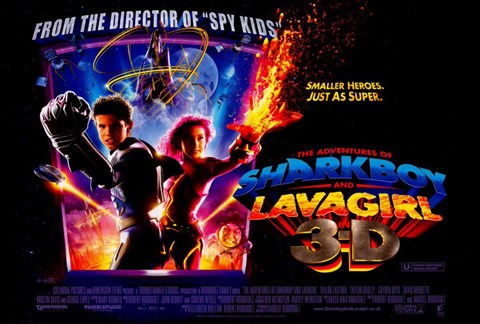 Framed Adventures of Shark Boy & Lava Girl in 3-D Print