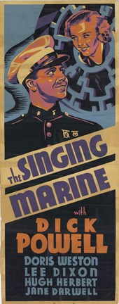 Framed Singing Marine Print