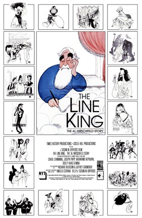 Framed Line King: The Al Hirschfeld Story Print