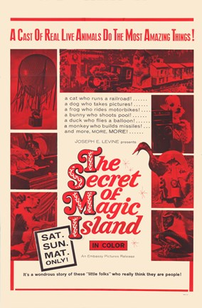 Framed Secret of Magic Island Print