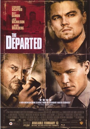 Framed Departed Damon DiCaprio Nicholson Print