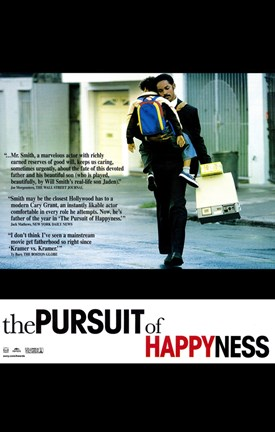 Framed Pursuit of Happyness Print