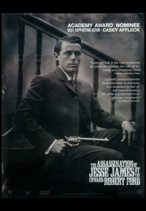 Framed Assassination of Jesse James by the Coward Robert Ford - black and white Print