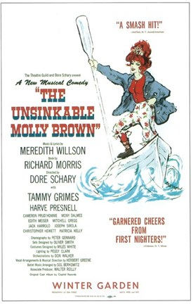 Framed (Broadway) Unsinkable Molly Brown Print