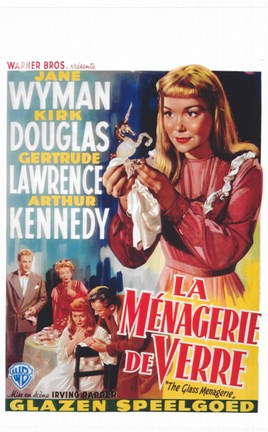 Framed Glass Menagerie Jane Wyman Print