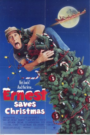 Framed Ernest Saves Christmas Print