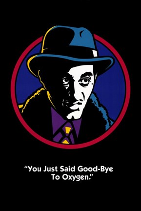 "Framed Dick Tracy ""You Just Said Good-Bye to Oxygen."" Print"