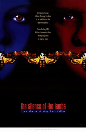 Framed Silence of the Lambs - two faces Print