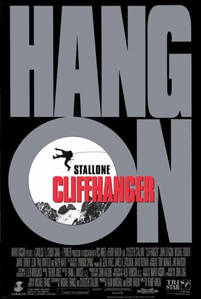 Framed Cliffhanger Hang On Print