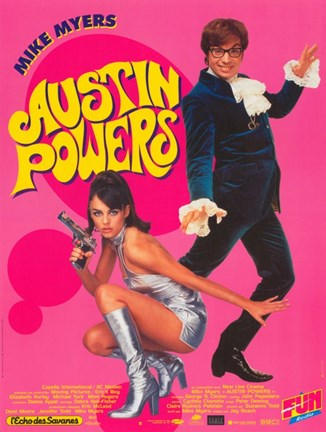 Framed Austin Powers: International Man of Mystery - Myers Print