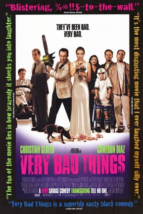 Framed Very Bad Things - characters posed Print