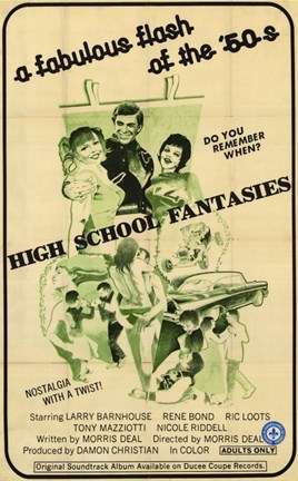 Framed High School Fantasies Print