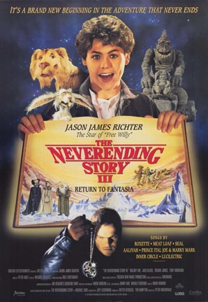Framed NeverEnding Story 3: Escape from Fantasia Print
