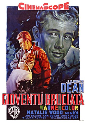 Framed Rebel Without a Cause Film Poster Italian Print