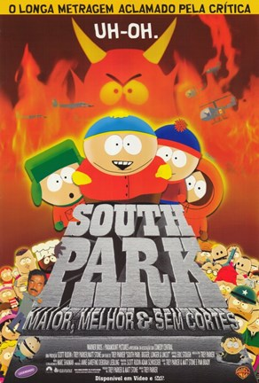 Framed South Park: Bigger, Longer and Uncut - Brazilian - style B Print