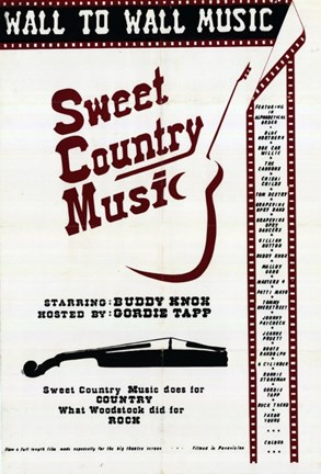 Framed Sweet Country Music Print