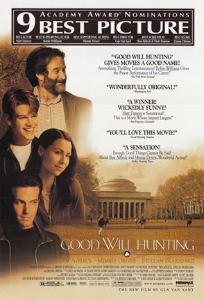 Framed Good Will Hunting Matt Damon Print