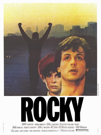 Framed Rocky Cast Print