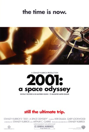Framed 2001: A Space Odyssey the time is now. Print