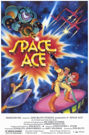 Framed Space Ace - Video Game Print