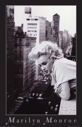 Framed Marilyn Monroe -  NYC balcony Print