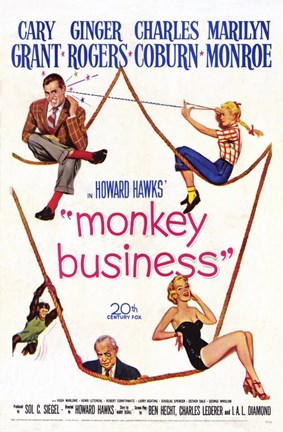 Framed Monkey Business M ovie Print