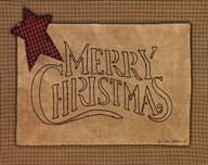 Merry Christmas Stitchery  Fine Art Print
