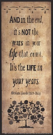Framed Years in Your Life Print