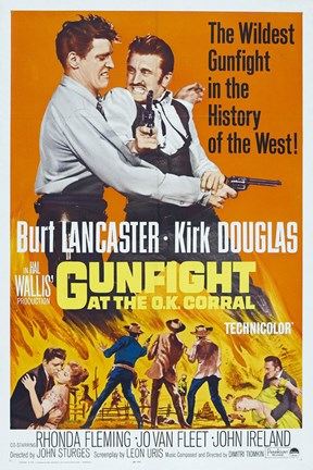 Framed Gunfight at the O.K. Corral Print