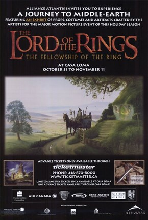 Framed Lord of the Rings: Fellowship of the Ring Motion Picture Print