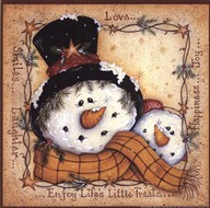 Happy Snowman  Fine Art Print