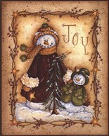 Snow Folk Joy  Fine Art Print