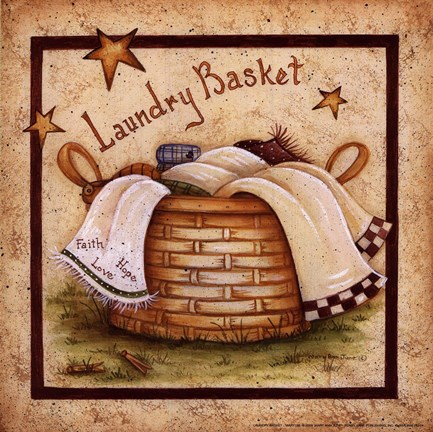 Laundry Basket Fine Art Print By Mary Ann June At