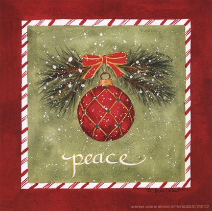 Framed Holiday Peace Print