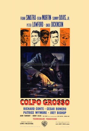 Framed Oceans 11 Colpo Grosso Tan Print