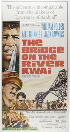 Framed Bridge on the River Kwai Cartoon Print