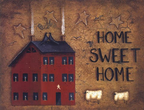 Saltbox Home Sweet Home Fine Art Print By John Sliney At