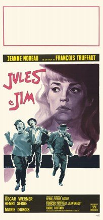 Framed Jules and Jim (french) Print