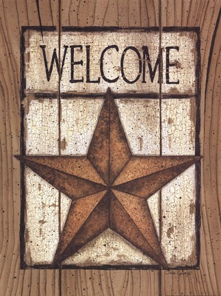 Framed Star Welcome Print