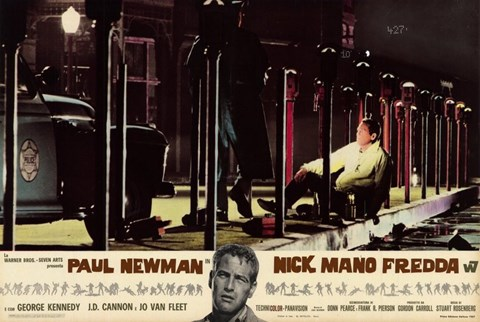 Framed Cool Hand Luke Paul Newman Nick Mano Fredda Print