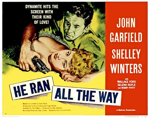 Framed He Ran all the Way Shelley Winters Print
