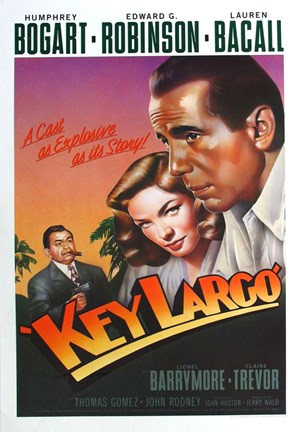 Framed Key Largo Art Deco Print