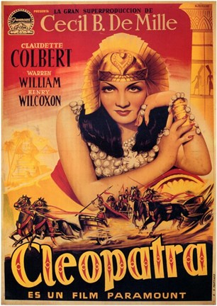 Framed Cleopatra DeMille Colbert William Wilcoxon Print