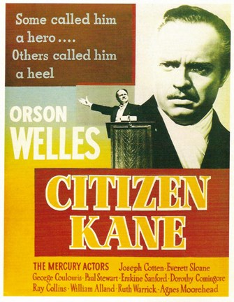 Framed Citizen Kane Some called him a hero... Print