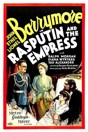 Framed Rasputin and the Empress Print