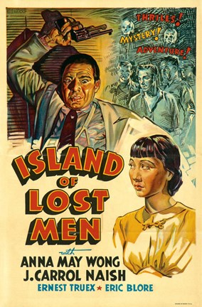 Framed Island of Lost Men Print