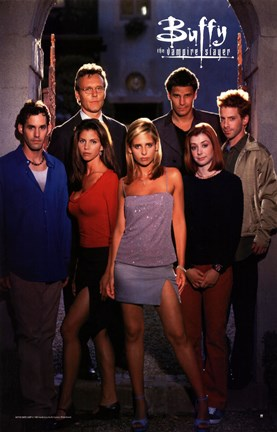 Framed Buffy The Vampire Slayer (TV) Cast Print